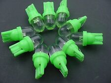 10x Green Dodge Wedge Dome LEDs Dashboard Instrument Panel Indicator Lights