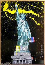 Mr Brainwash (Thierry Guetta) Lady Liberty Urban Grafitti Style Litho Poster