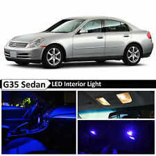 11x Blue LED Lights Interior Package  2003-2006 G35 Sedan + TOOL