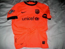 NIKE TEAM BARCELONA FCB EMBROIDERED LOGO SLEEVE LFP PATCH SOCCER JERSEY -LNWOT