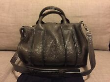 Alexander Wang Rocco Grey Inside Out Satchel Leather Textured Rare Bag $995