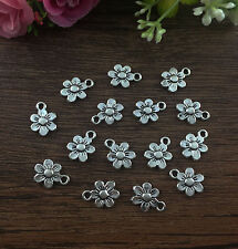 20pcs flower Tibetan Silver fit Pendants bracelet beaded Charms 13x10mm DIY  !!