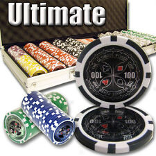 New 500 Ultimate 14g Clay Poker Chips Set with Aluminum Case - Pick Chips!