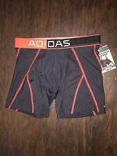 MENS UNDERWEAR ADIDAS Stay Cool BOXER BRIEFS Red Black Small S