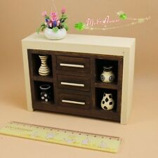 1:12 Dollhouse Miniature furniture Wooden Antique Showcase Cabinet drawers22125