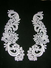2 pc Victorain Venise Venice Lace Applique Collar 3 Color Black Hat Bridal #1716