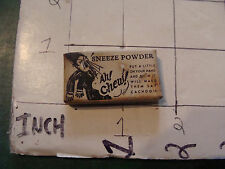 vintage TRICK/GAG/JOKE, 1950's SNEEZE POWDER in box -stained box
