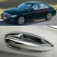 9pcs Chrome Outer Side Car Door Handle Cover Fit for Mercedes Benz E-Class 2017
