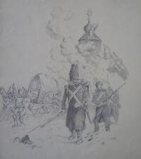 Dessin XIXeme  - CAMPAGNE DE RUSSIE - 1er Empire Napoléon