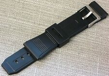 22mm Rubber Plastic Watch Band Black Replacement FITS CASIO DATABANK