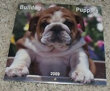 Bulldog Puppies 2009 7x7 Mini Wall Calendar Brown Trout Upcycle Decor NEW