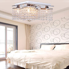 Modern Bead Pendant Ceiling Lighting 5 Lamp in Crystal for Living Room Bedroom