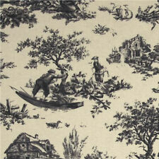 Anna Griffin Jolie Pastoral Toile Fabric in Driftwood CF2405-3 100% Cotton