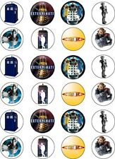 Dr Who Cupcake / Fairy Cake Wafer Paper Toppers x 24