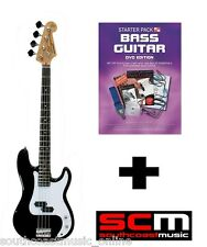 ESSEX VEP62 BASS + IN A BOX STARTER PACK BASS GUITAR LEARN TO PLAY w ACCESSORIES