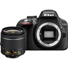 Nikon D3300 Digital SLR Camera + 18-55mm AF-P VR Lens: Black