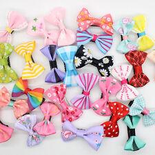 10 pcs Toddler Girl Baby Hair Clip Ribbon Bow Kids Satin Bowknot Headband Hot