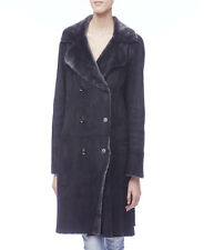 Gucci Grey Shearling Fur Coat with Belt - Size 38