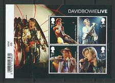 GREAT BRITAIN 2017 DAVID BOWIE  MINIATURE SHEET FINE USED