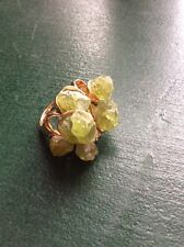 Natural Stone Ring Raw Peridot Cluster Style 14k Gold filled size 10 OOAK
