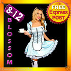 F2 Ladies Tea Party Alice in Wonderland Fairy Tales Fancy Dress Costume Outfit