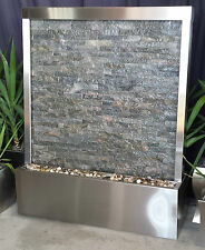 WATER FEATURE - STAINLESS STEEL  STACKED STONE 1220mm X 1510 mm High