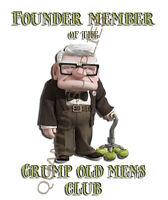 FOUNDER OF THE GRUMPY OLD MENS CLUB T SHIRT  S M L XL XXL XXXL