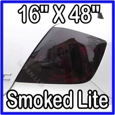 "LEXEN 16"" X 48"" DARK SMOKE TAIL LIGHT ORIGINAL PVC FILM COVER SMOKED OVERLAY f"