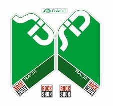 Rock Shox SID Race Mountain Bike Cycling Factory Style Decal Kit Sticker Green