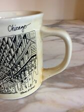 Vintage Chicago Bruce E Hart Sears Tower Mug Cup