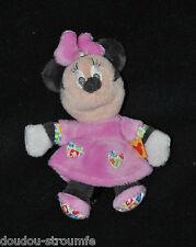 Peluche Doudou Minnie DISNEY BABY NICOTOY Robe Rose 15 Cm Etat NEUF