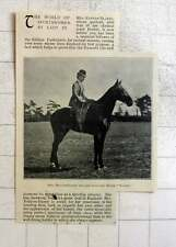 1897 Mrs Kenyon Slaney And Her Chestnut Horse, Rocket, Kildare Foxhounds