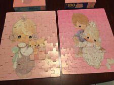 Lot of 2 Precious Moments puzzles Vintage 63 pc & 100 pc COMPLETE Golden Brand
