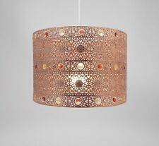 Country Club Copper 25cm Moroccan Gem Ceiling Light Shade Lamp Lampshade Pendant