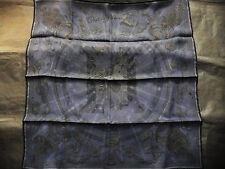 """Hermes scarf CARRE """"  C'est la Fete  """"  dark blue"""