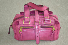 Mulberry Pink Mini Mabel Gold Detail Leather Small Womens Zip Handbag