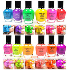 KLEANCOLOR NEON COLORS 12 FULL COLLETION SET NAIL POLISH LACQUER 12NEONSET
