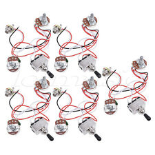 Guitar Wiring Harness Kit 3 Way Toggle Switch 1v1t 500k Pots For Les Paul 5 Pcs