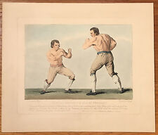 T. Grozer: Boxing Match Between Thomas Johnson & Isaac Perrins - Engraving 1789