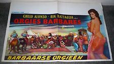 ORGIES BARBARES original movie poster CHELO ALONSO/RIK BATTAGLIA/ATTACK OF MOORS
