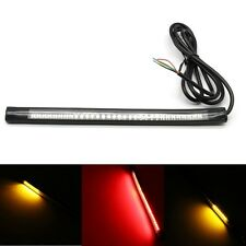 UK 48 LED Bendable Flexible Strip Light Motorcycle Tail Brake Stop Turn Signal