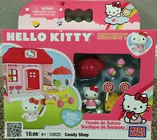 2010 Hello Kitty Mega Bloks 10820 Candy Shop 16 Pieces Play Set Retired VHTF NIP