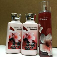 Bath & Body Works Japanese CHERRY BLOSSOM 8 oz Lotion & Fragrance Mist Set of 3!