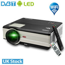 4000lm Built-In Android WiFi Home Cinema Projector DVB-T HDMI USB 1080p Video UK