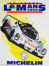 1993 - 24 Hours Le Mans France Automobile Race Car Advertisement Vintage Poster