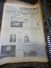 journal l'oeuvre - n° 8320 - 13 juillet 1938 - howard hughes - middelkamp