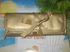 STILA Roll Makeup Case with 4 pockets - Gold -