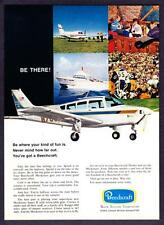"1970 Beechcraft Musketeer Airplane photo ""Be There!"" vintage print ad"