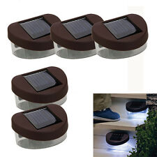 5Pcs Solar 2LED Path Yard Wall Outdooe Garden Gutter Fence Light Lamp Cool White