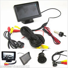 "DC12V Waterproof 18.5mm Car SUV Reverse Backup Camera 4.3"" LCD Monitor Tool Kit"